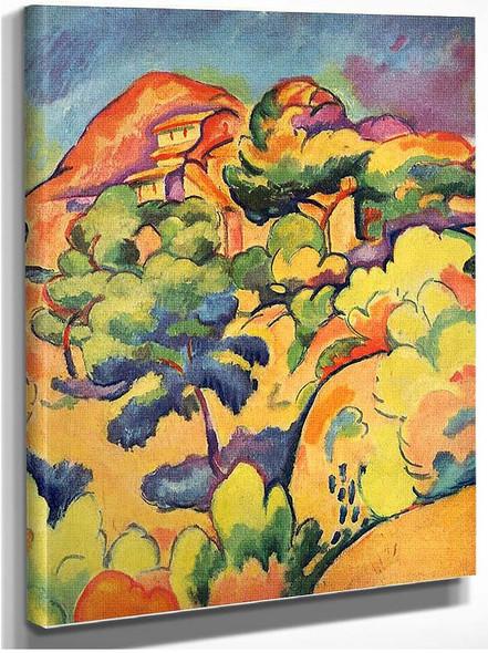 Landscape At La Ciotat 1907 1 By Georges Braque