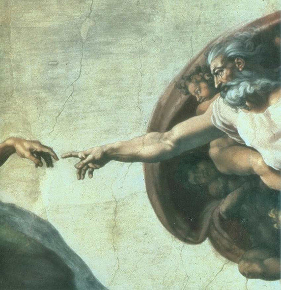 Creation Of Adam Sistine Chapel Detail by Michelangelo Art Reproduction from Wanford.