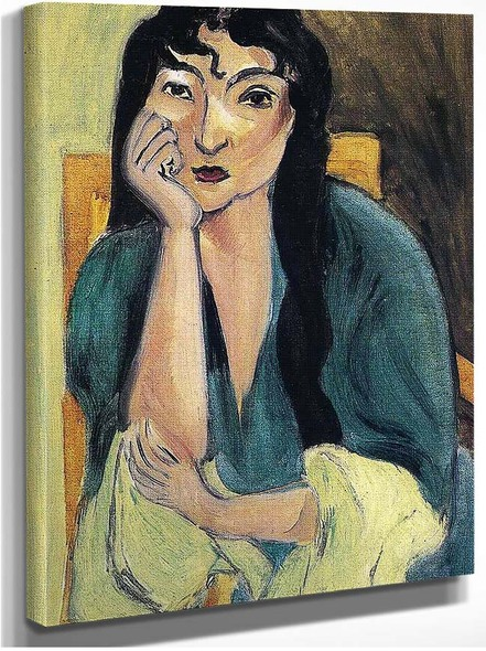 Laurette In Green By Henri Matisse