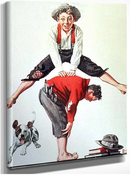 Leap By Norman Rockwell