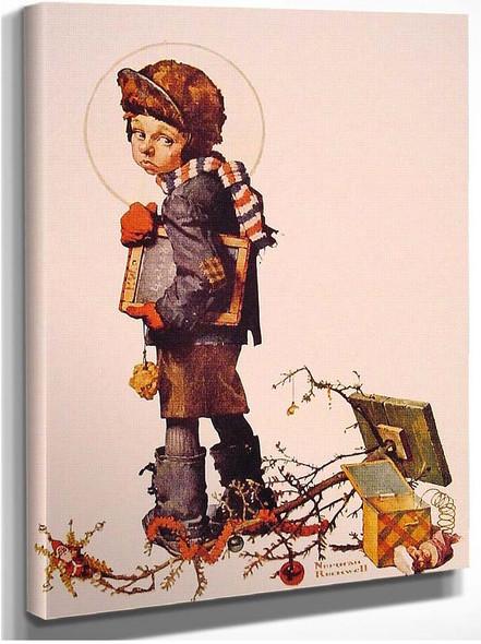 Little Boy Holding Chalk Board 1927 By Norman Rockwell