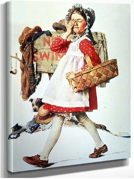 Look Away By Norman Rockwell
