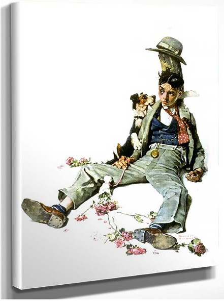 Lost Girl By Norman Rockwell