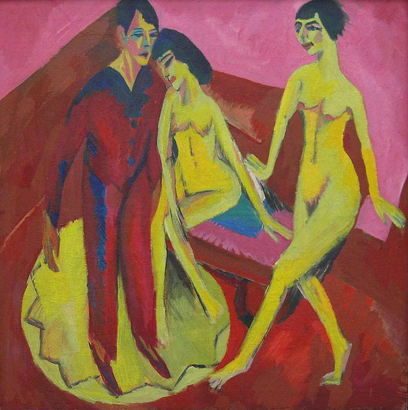 Dance School By Ernst Ludwig Kirchner Art Reproduction from Wanford.