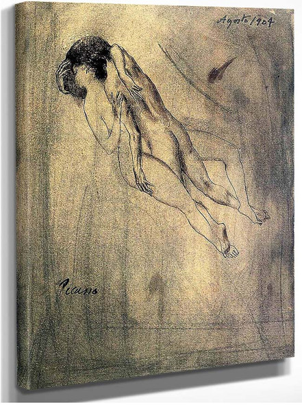 Lovers 1904 By Pablo Picasso