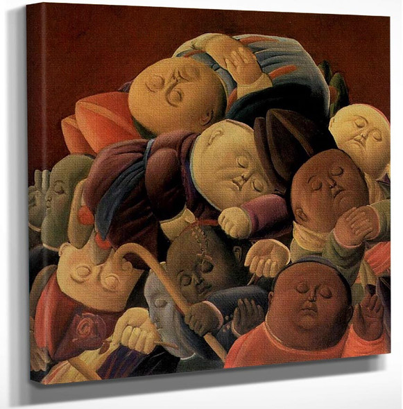 Dead Bishops By Fernando Botero Art Reproduction from Wanford.