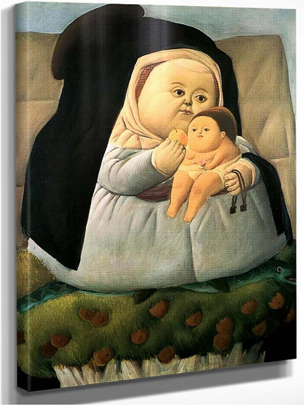 Madonna And Child By Fernando Botero