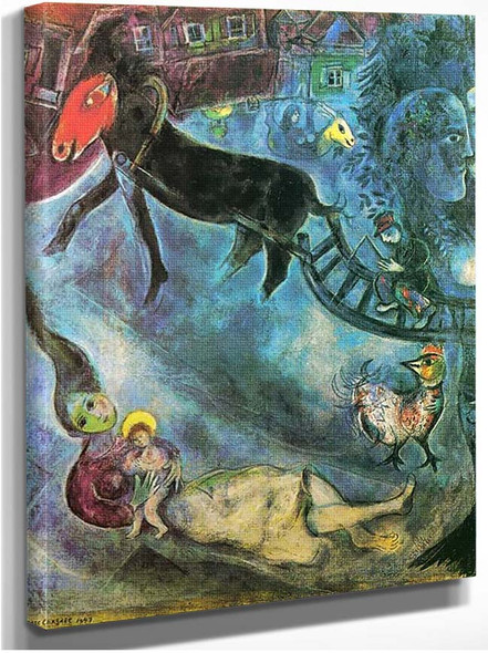Madonna With The Sleigh 1947 By Marc Chagall