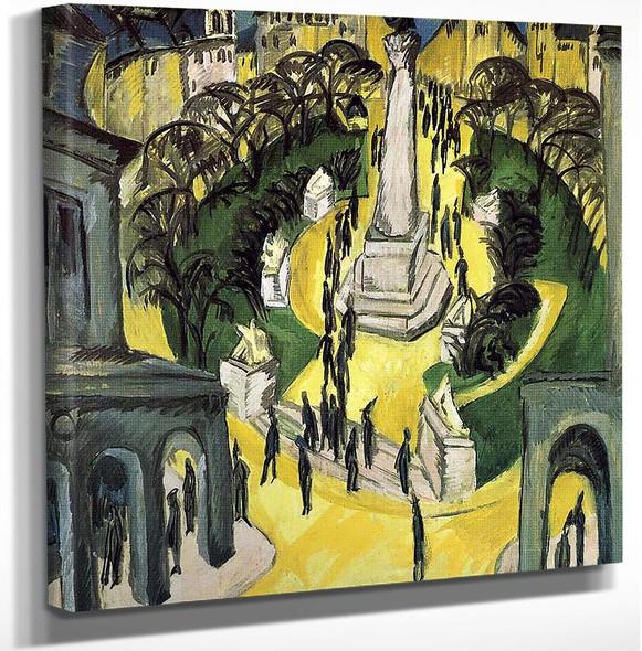 Der Belle Alliance Platz In Berlin By Ernst Ludwig Kirchner Art Reproduction from Wanford.