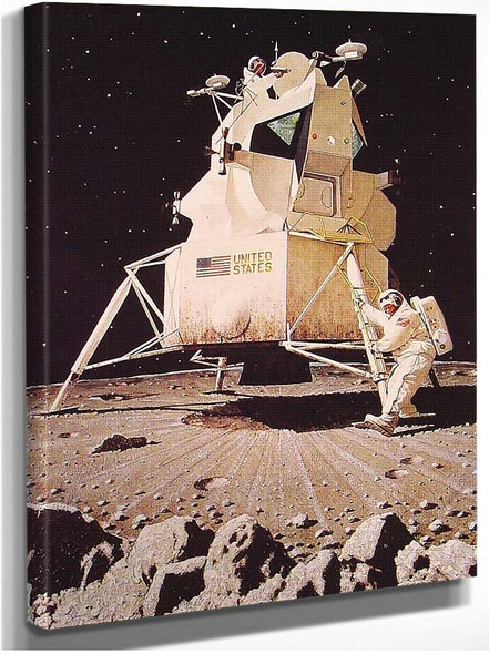 Man On The Moon 1967 By Norman Rockwell