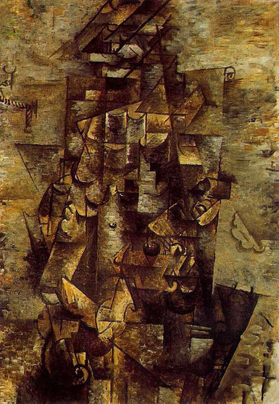 Man With A Guitar 1911 By Pablo Picasso Art Reproduction from Wanford