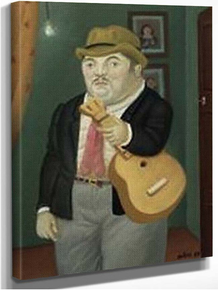 Man With A Guitar2 By Fernando Botero