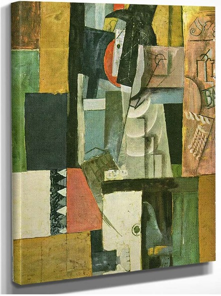 Man With Guitar 1913 By Pablo Picasso