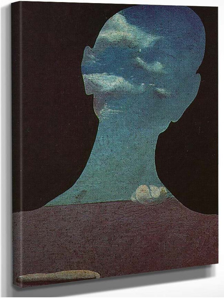 Man With His Head Full Of Clouds By Salvador Dali