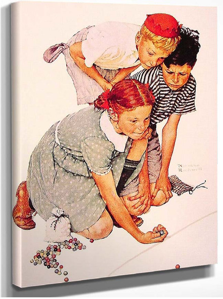 Marble Champion 1939 By Norman Rockwell