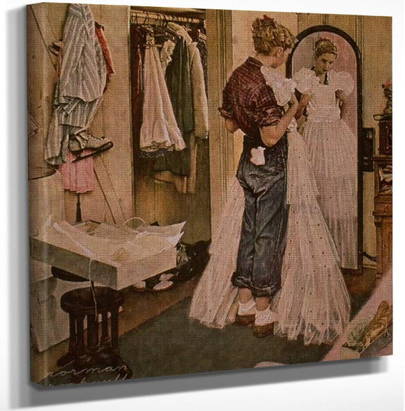 Dress By Norman Rockwell Art Reproduction from Wanford.
