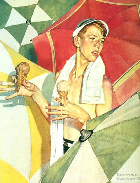 Melting Ice Cream By Norman Rockwell Art Reproduction from Wanford