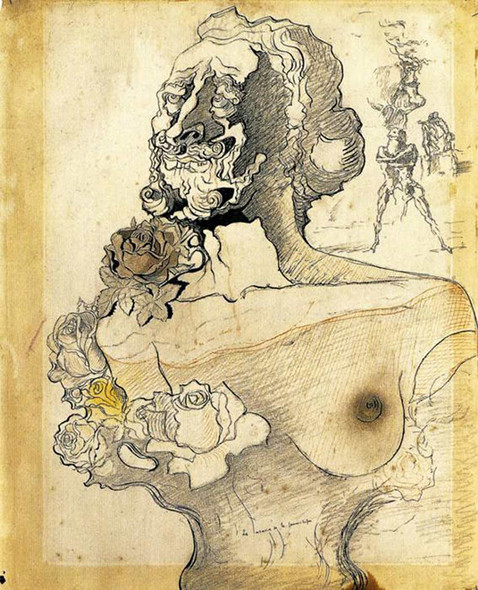 Memory Of The Child Woman By Salvador Dali Art Reproduction from Wanford