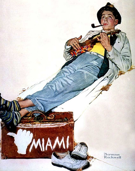 Miami By Norman Rockwell Art Reproduction from Wanford