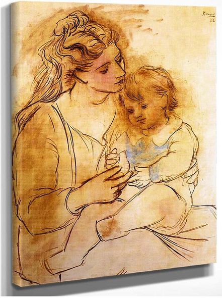 Mother And Child 1922 1 By Pablo Picasso