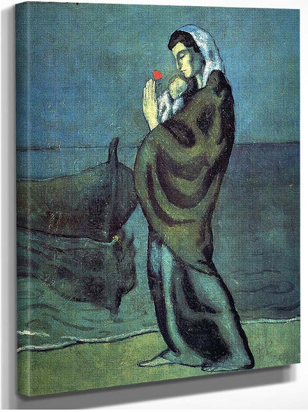 Mother And Child On The Beach 1902 By Pablo Picasso