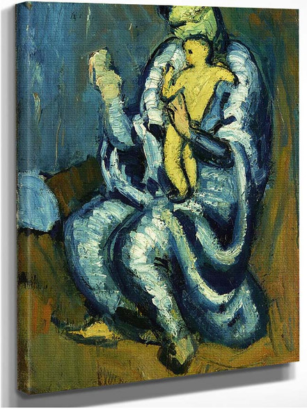 Motherhood 1901 By Pablo Picasso
