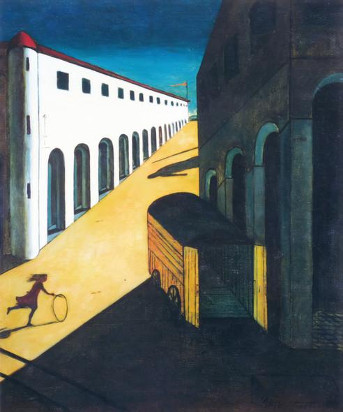 Mystery And Melancholy Of A Street 1914 By Giorgio De Chirico