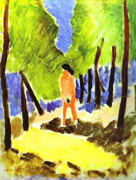 Nude In Sunlit Landscape 1909 By Henri Matisse Art Reproduction from Wanford