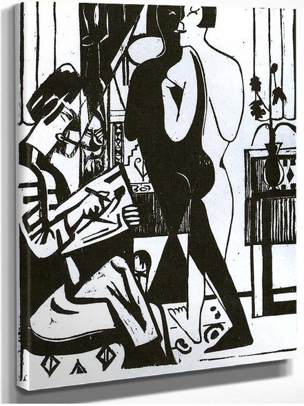 Painter And Modell By Ernst Ludwig Kirchner