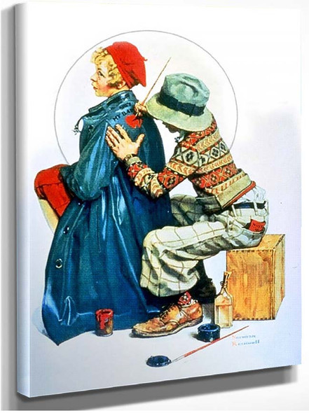 Painting Coat By Norman Rockwell