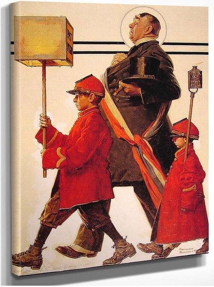 Parade 1924 By Norman Rockwell