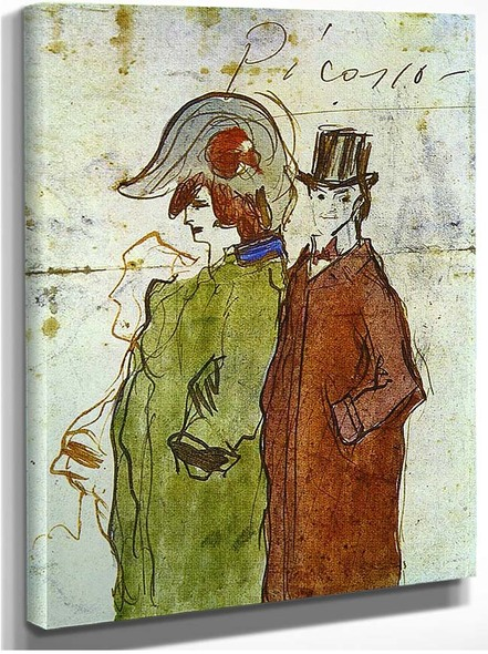 Picasso With Partner 1901 By Pablo Picasso