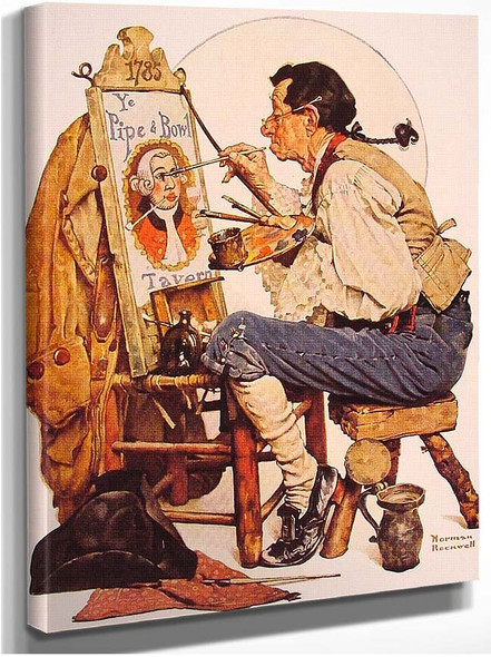 Pipe And Bowl Sign 1926 By Norman Rockwell