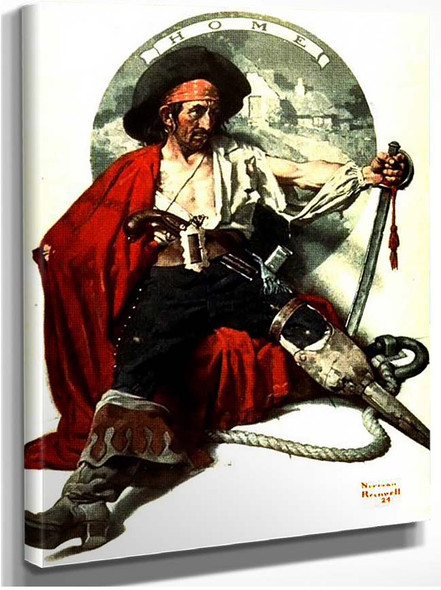 Pirat By Norman Rockwell