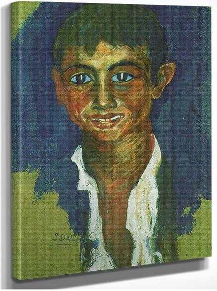Portrait Of A Gipsy By Salvador Dali