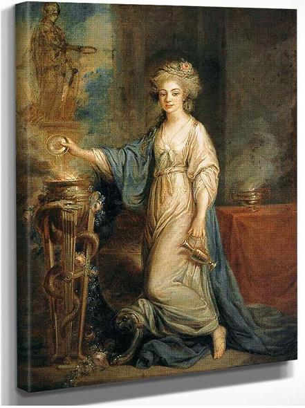 Portrait Of A Woman As A Vestal Virgin By Kauffmann Angelica