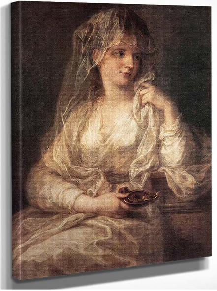 Portrait Of A Woman Dressed As Vestal Virgin By Kauffmann Angelica