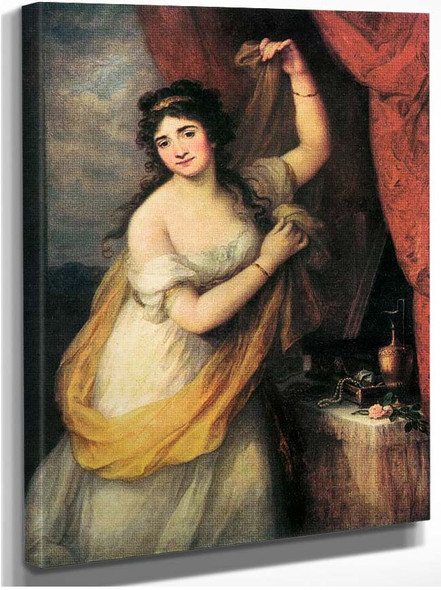 Portrait Of A Woman By Kauffmann Angelica