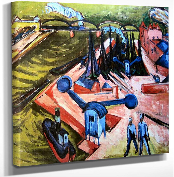 Frankfurter Westhafen By Ernst Ludwig Kirchner Art Reproduction from Wanford.