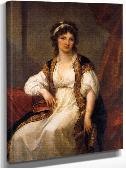 Portrait Of A Young Woman By Kauffmann Angelica