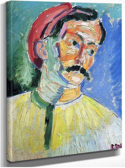 Portrait Of Andre Derain 1905 By Henri Matisse