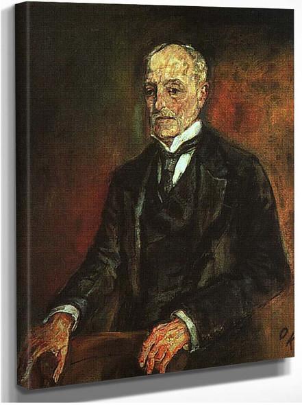 Portrait Of Commerce Counselor Ebenstein 1908 By Oskar Kokoschka