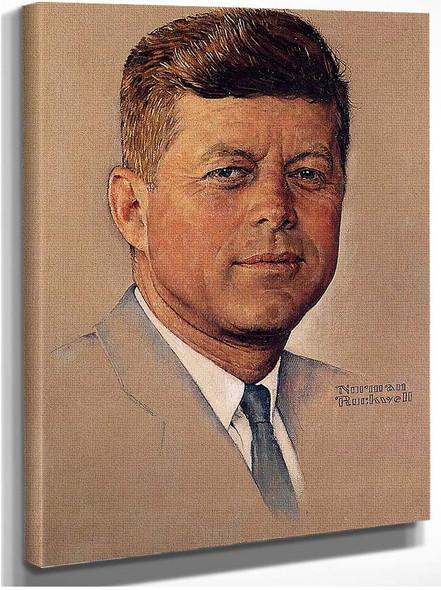 Portrait Of John F Kennedy 1960 By Norman Rockwell