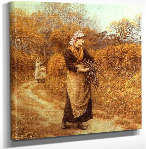 Gathering Firewood By Helen Allingham Art Reproduction from Wanford.