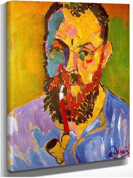 Portrait Of Matisse By Andre Derain