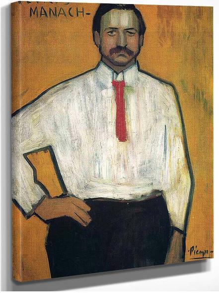 Portrait Of Petrus Manach 1901 By Pablo Picasso