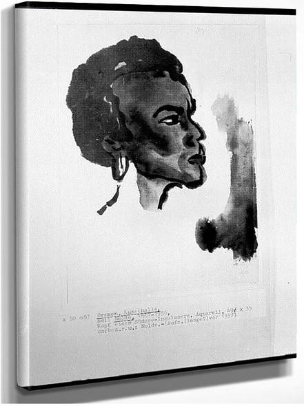 Portrait Of South Sea Islander 1937 By Emil Nolde