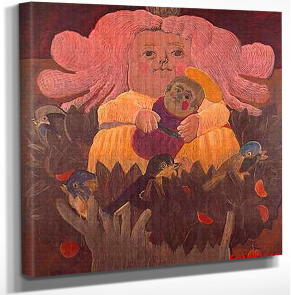 Girl2 By Fernando Botero Art Reproduction from Wanford.