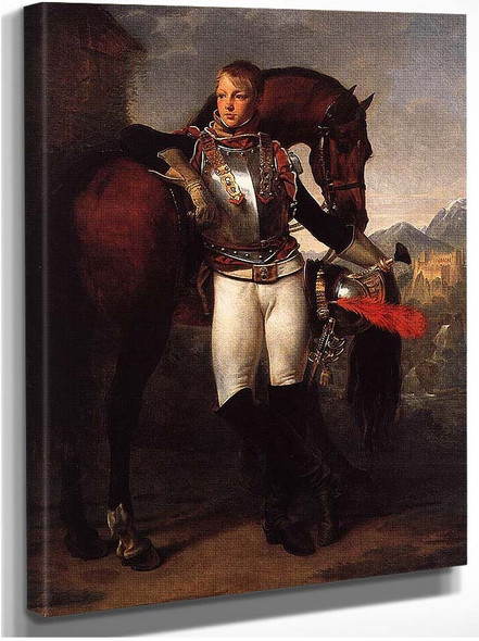 Portrait Of The Second Lieutenant Charles Legrand By Gros Antoine Jean