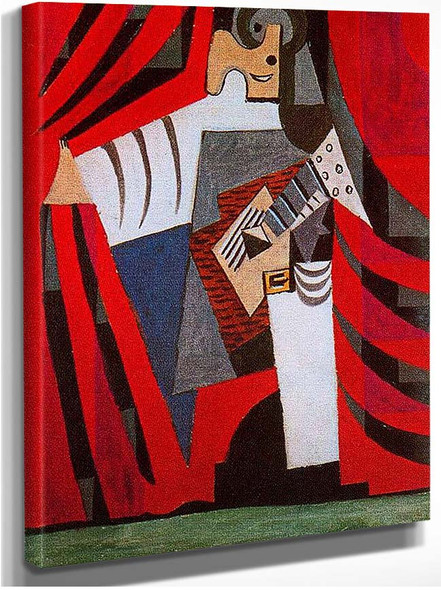 Punchinello With Guitar 1920 By Pablo Picasso